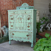 CUSTOM Shabby DRESSER Order Your Own Antique Dresser Highboy Chest Of Drawers Shabby Chic Furniture Painted Antique Furniture