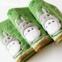 Baby Cotton Cartoon Totoro Face Towel Baby Towel Wash Cloth Handkerchiefs Infant Baby