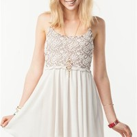 A'GACI Scallop Lace Swing Dress - New Arrivals