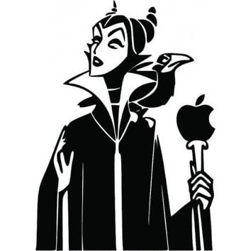 Maleficent Vinyl sticker Car, Laptop, Cell, Mac Decal MacBook Pro Air Mac Decal wall