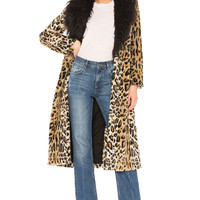 House of Harlow 1960 x REVOLVE Maurice Coat in Leopard