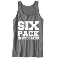 Six Pack in Progress Unisex Tank Top - For Gym Time - Great Motivation