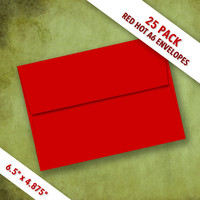 A6 Size RED HOT Envelopes | Pack of 25