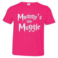 Mommy's Little Muggle Potter Fan Infant Toddler Muggle T Shirt Mommy's Muggle kid shirt