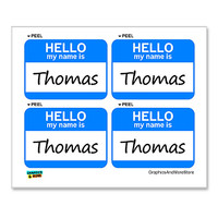 Thomas Hello My Name Is - Sheet of 4 Stickers