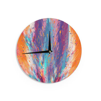 "Danny Ivan ""Colorful Fire"" Cool Fire Wall Clock"