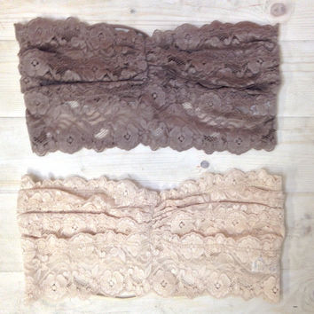 Lace Bandeau With Strappy Back
