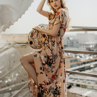 Stella Asymmetrical Maxi Dress-FINAL SALE