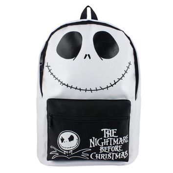 The Nightmare Before Christmas jack Backpack Mochila Laptop Backpacks Double-Shoulder School Bags