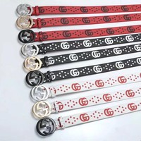 GUCCI GG Belt Leather Belt { 9 colors }