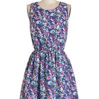 Short Sleeveless A-line Take Your Bird for It Dress