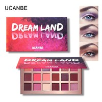 UCANBE Maquillaje Shimmer body Glitter Eyeshadow Pallete 18 Colors Purple Pink Pigmented Waterproof Eyeshadow with Mirrior