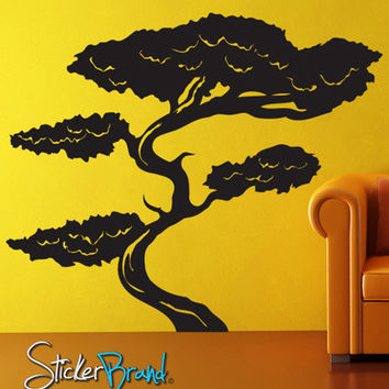 Vinyl Wall Decal Sticker Tall Asian Bonsai Tree #GFoster152