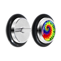 Tie-Dyed Cheater Plug