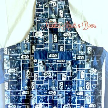 Star Wars Blue Themed Apron, Mens, Womens, Unisex Aprons