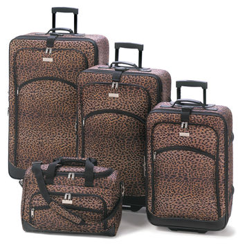 Leopard Print Luggage Ensemble