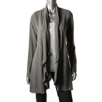 Fluxus Womens Knit Heathered Cardigan Top