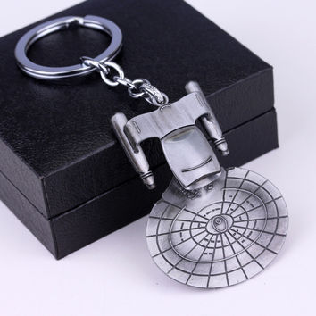 Movie Star Wars 3 key chains holder Trek Spaceship USS Vengeance Replica HD Warships Model Metal KeyRing star trek 3 Keychain