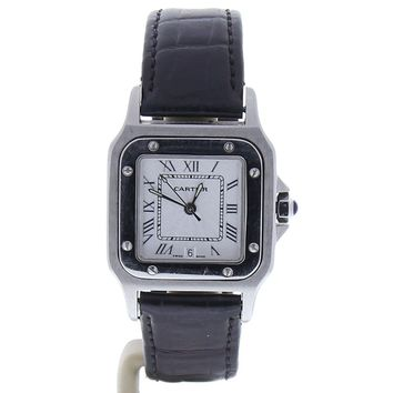 Cartier Santos Octagon automatic-self-wind womens Watch 987901 (Certified Pre-owned)