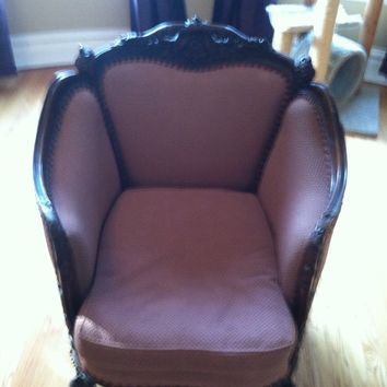 French provincial barrel back chair