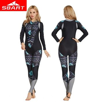 SBART Professional Women Rash Guard Jellyfish Clothes Lycra Wetsuit Women Plus Size Diving Suit Scuba Snorkeling Surfing Wetsuit
