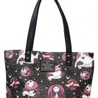 Nightmare Before Christmas Faux Leather Tote | Blame Betty