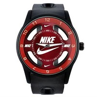 NIKE fashion exquisite watch  F-PS-XSDZBSH   Black red