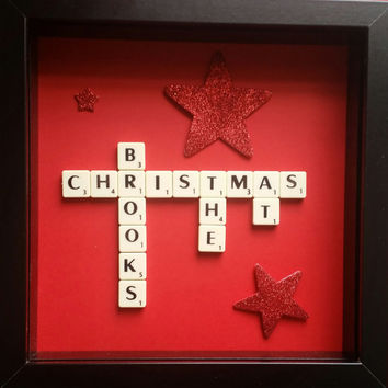 Personalised Christmas at the family frame. Personalised christmas gift and handmade christmas gift. Unique gift