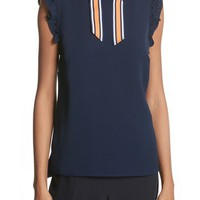 Ted Baker London Bow Neck Frilled Top | Nordstrom