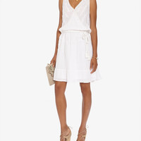 Love Sam EXCLUSIVE Flare Embroidery Dress at INTERMIX | Shop Now | Shop IntermixOnline.com