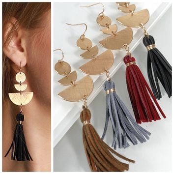 Boho Leather Earrings
