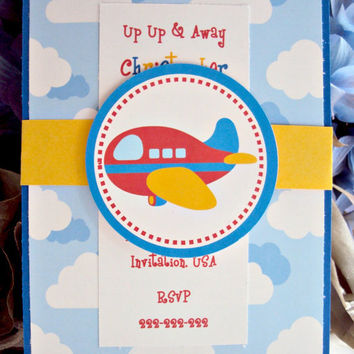 Little Red Plane Invitation, Plane invitation , Toy Plane invitation , Airplane invitation