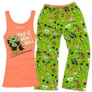 Play.com - Buy David & Goliath Women's This Is How I Roll Pyjama Set (Green) online at Play.com and read reviews. Free delivery to UK and Europe!