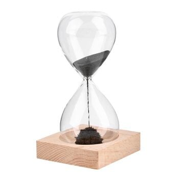 Free shipp 1Pcs Awaglass Hand-blown Timer clock Magnet Magnetic Hourglass ampulheta crafts sand clock hourglass timer Christmas