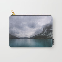 Landscape Photography Maligne Lake Mountain View | Turquoise Water | Alberta Canada Carry-All Pouch by Wildhood