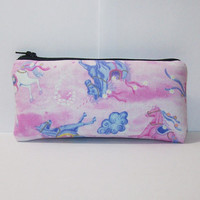 "Padded Pouch, Unicorn Pipe Case, Glass Pipe Bag, Zipper Bag, Padded Pipe Pouch, Magical, Cute Pink Bag, 420, Smoke Accessory - 5.5"" SMALL"