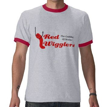 KRW Red Wigglers The Cadillac of Worms Shirt from Zazzle.com