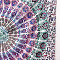 MULTICOLOR Mandala Cotton Printed Fabric Throw Tapestry Hippie Wall Hanging Boho Bohemian Bedding Bedspread Ethnic Home Decor -FabricSarmaya