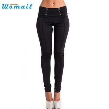 DKLW8 Womail Dancing Poppy 2017 New Style Women High Waist Skinny Stretch Pencil Short Pants Long Slim Trousers