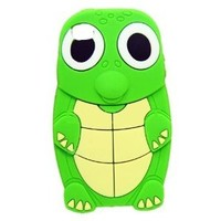 HJX Green Fashion Cute Turtle Dinosaur Animal Silicone Skin Cover Case for Apple iPhone 5 5G 5TH (5th Generation)