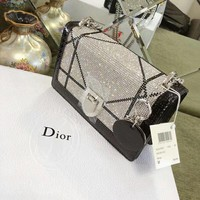 Christian Dior Women Fashion Leather Satchel Shoulder Bag Handbag Crossbody