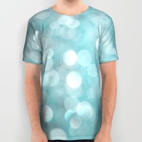 Aqua Bubbles All Over Print Shirt by Shawn King