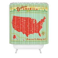 Anderson Design Group Explore America Shower Curtain