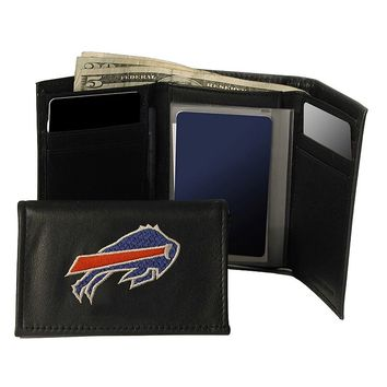 Buffalo Bills Trifold Leather Wallet (Red)