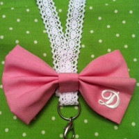 Lace Lanyard with Monogrammed Bow