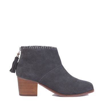 TOMS Leila Ankle Boots - Grey Suede