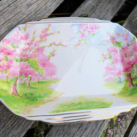 Vintage Royal Albert Bone China Mint Dish in Blossom Time Pattern