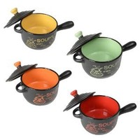 4 x Stylish Soup Bowls Complete With Lids Great Gift: Amazon.co.uk: Kitchen & Home