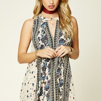 Ornate Floral Trapeze Dress