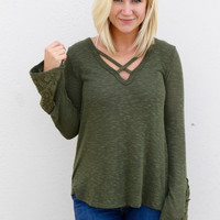 Only In Olive Top